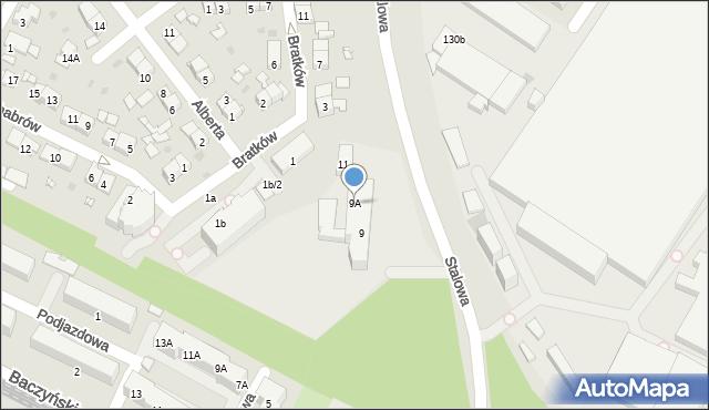 Sosnowiec, Stalowa, 9A, mapa Sosnowca