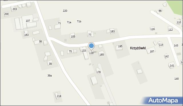 Stojowice, Stojowice, 119, mapa Stojowice