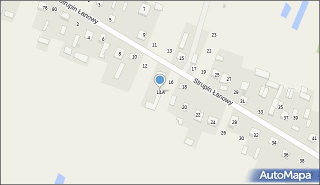 Strupin Duży, Strupin Duży, 14A, mapa Strupin Duży