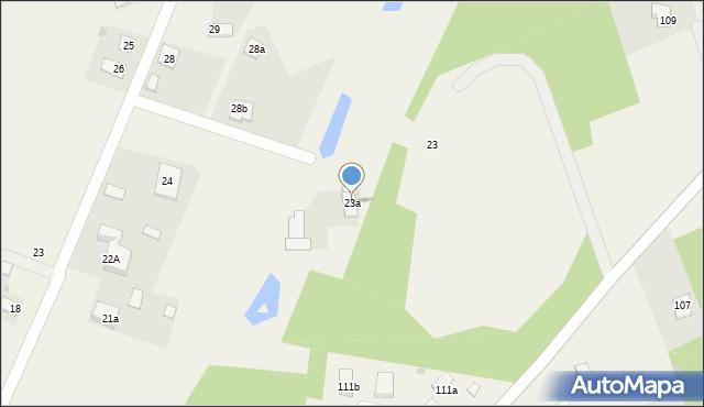 Strzelce, Strzelce, 23a, mapa Strzelce