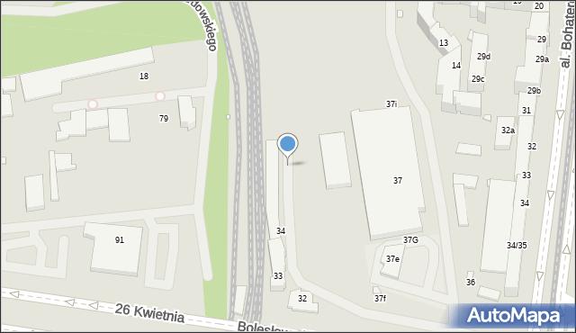 Szczecin, Stacja PKP Turzyn, 4, mapa Szczecina