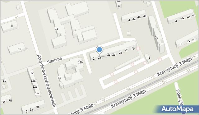 Toruń, Stamma Feliksa, 2a, mapa Torunia