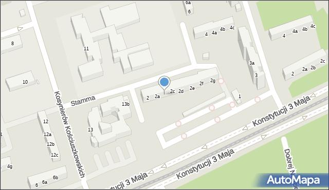 Toruń, Stamma Feliksa, 2b, mapa Torunia