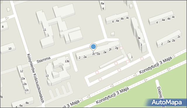 Toruń, Stamma Feliksa, 2c, mapa Torunia