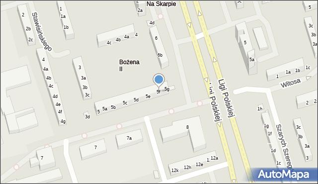 Toruń, Stawisińskiego Tomasza, 5f, mapa Torunia