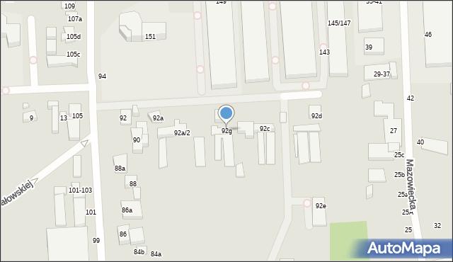Toruń, Stefana Batorego, 92g, mapa Torunia