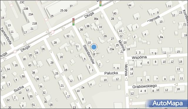 Toruń, Steinbornów, 6, mapa Torunia