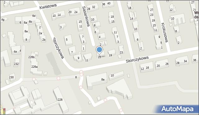 Toruń, Storczykowa, 15, mapa Torunia
