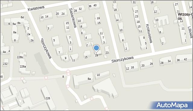 Toruń, Storczykowa, 19, mapa Torunia