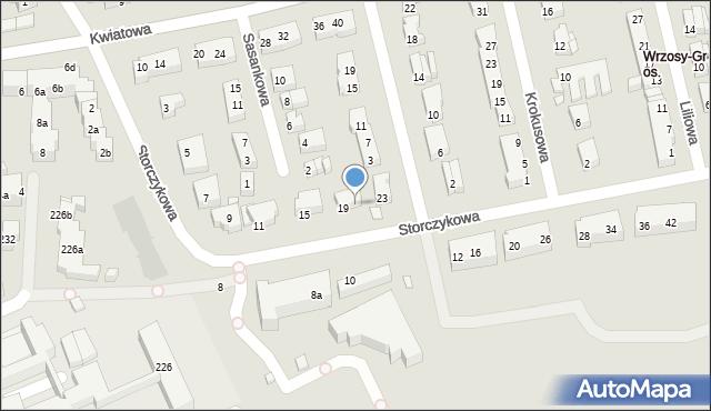 Toruń, Storczykowa, 21, mapa Torunia