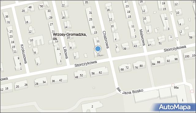 Toruń, Storczykowa, 33, mapa Torunia