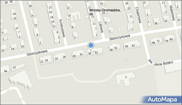 Toruń, Storczykowa, 38, mapa Torunia