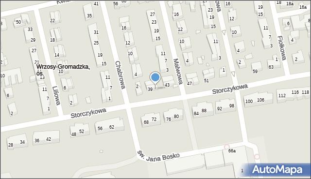 Toruń, Storczykowa, 41, mapa Torunia