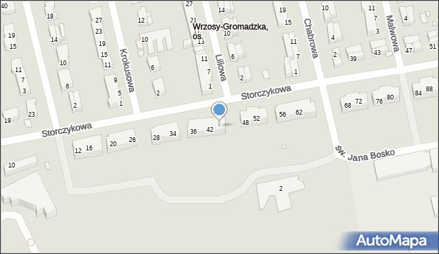 Toruń, Storczykowa, 46, mapa Torunia