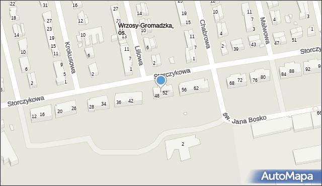 Toruń, Storczykowa, 50, mapa Torunia