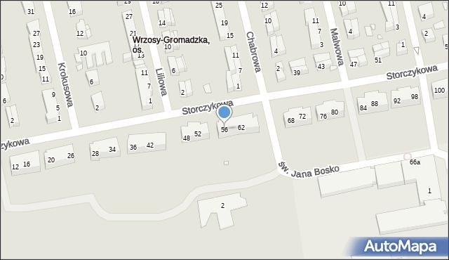 Toruń, Storczykowa, 56, mapa Torunia