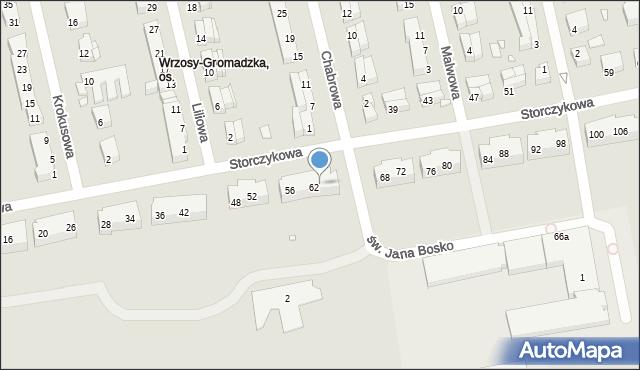 Toruń, Storczykowa, 64, mapa Torunia