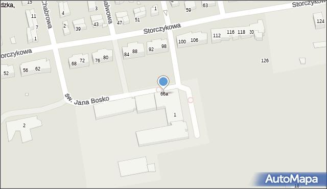 Toruń, Storczykowa, 66a, mapa Torunia