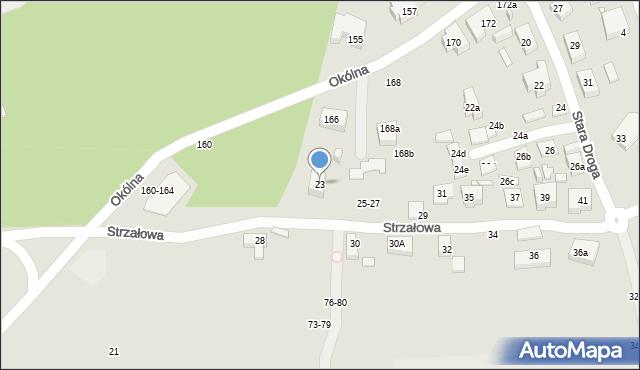 Toruń, Strzałowa, 23, mapa Torunia