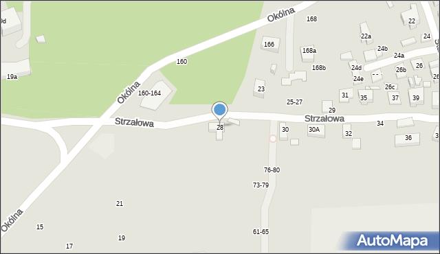 Toruń, Strzałowa, 28, mapa Torunia