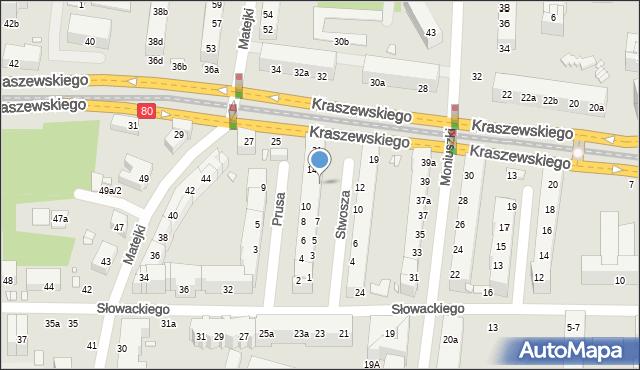 Toruń, Stwosza Wita, 11, mapa Torunia