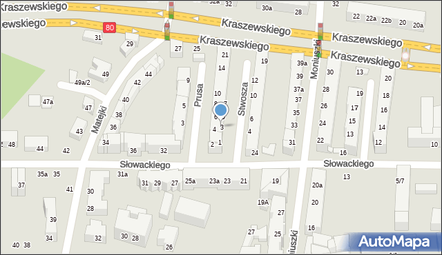 Toruń, Stwosza Wita, 3, mapa Torunia