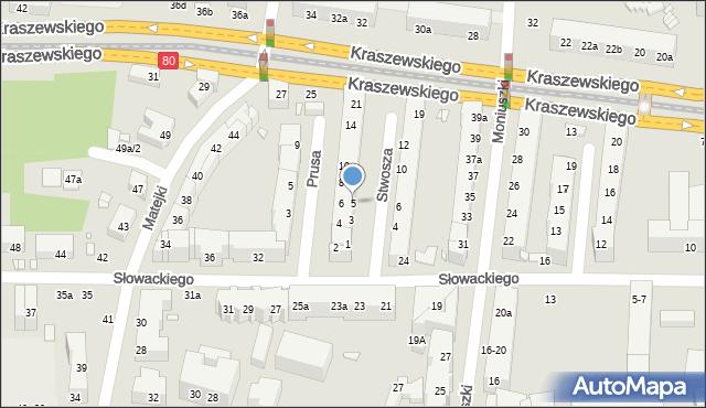 Toruń, Stwosza Wita, 5, mapa Torunia