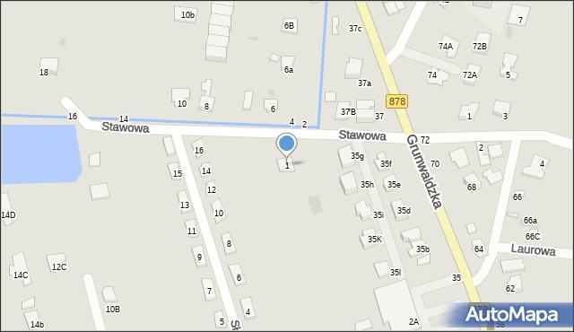 Tyczyn, Stawowa, 1, mapa Tyczyn