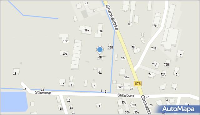 Tyczyn, Stawowa, 6B, mapa Tyczyn