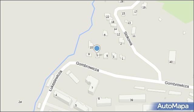 Ustrzyki Dolne, Stokowa, 7, mapa Ustrzyki Dolne