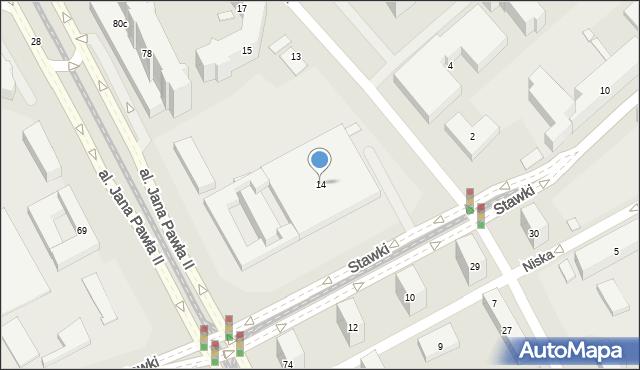 Warszawa, Stawki, 14, mapa Warszawy