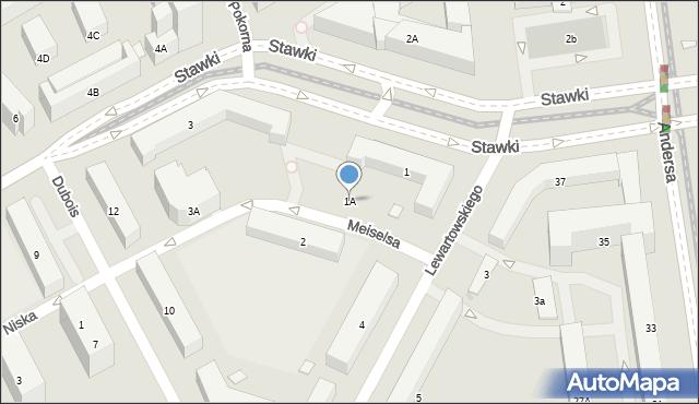 Warszawa, Stawki, 1A, mapa Warszawy