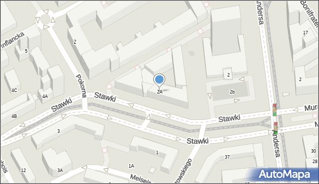 Warszawa, Stawki, 2A, mapa Warszawy