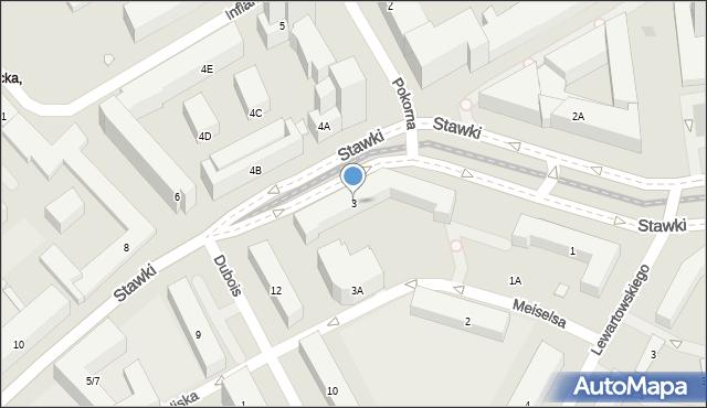 Warszawa, Stawki, 3, mapa Warszawy