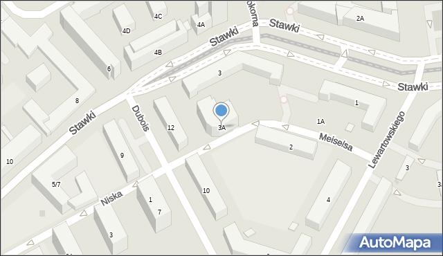 Warszawa, Stawki, 3A, mapa Warszawy
