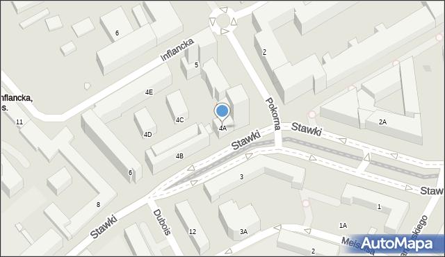 Warszawa, Stawki, 4A, mapa Warszawy