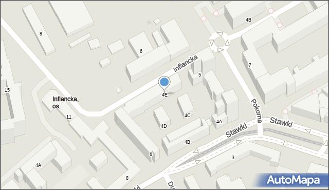 Warszawa, Stawki, 4E, mapa Warszawy