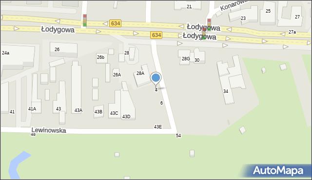 Warszawa, Strużańska, 4, mapa Warszawy