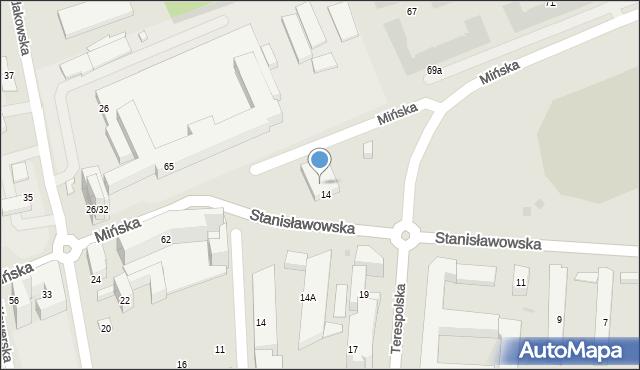 Warszawa, Stanisławowska, 26, mapa Warszawy