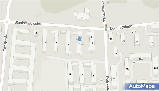 Warszawa, Stanisławowska, 3, mapa Warszawy