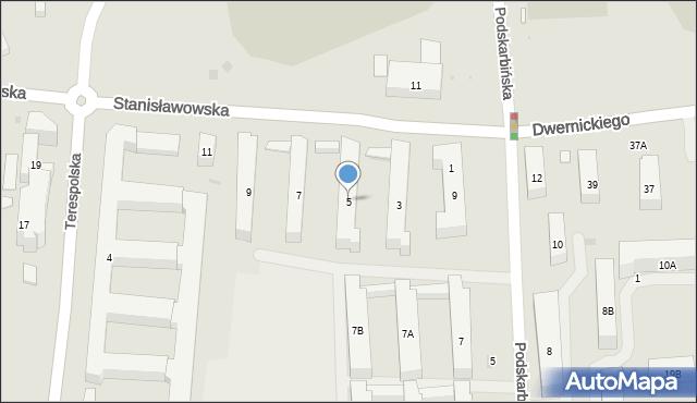 Warszawa, Stanisławowska, 5, mapa Warszawy