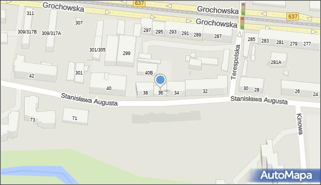 Warszawa, Stanisława Augusta, 36, mapa Warszawy