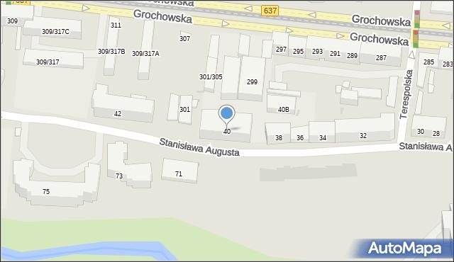 Warszawa, Stanisława Augusta, 40, mapa Warszawy