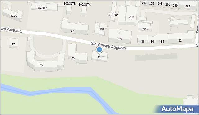 Warszawa, Stanisława Augusta, 71, mapa Warszawy