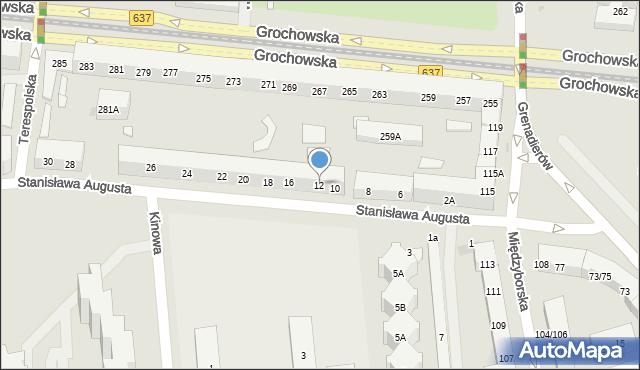 Warszawa, Stanisława Augusta, 12, mapa Warszawy
