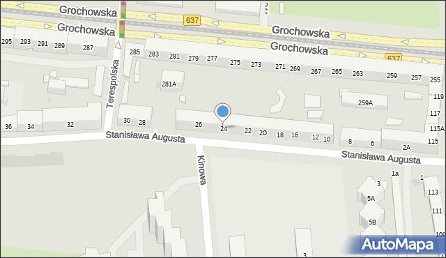 Warszawa, Stanisława Augusta, 24, mapa Warszawy