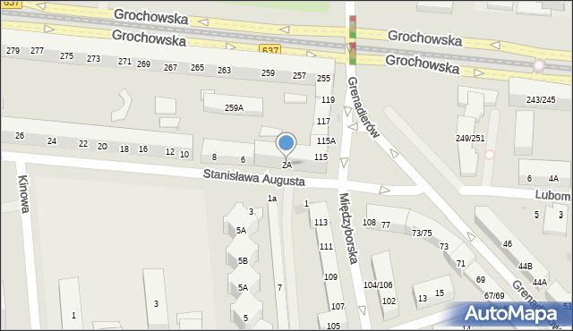 Warszawa, Stanisława Augusta, 2A, mapa Warszawy