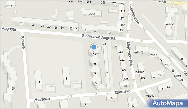 Warszawa, Stanisława Augusta, 5A, mapa Warszawy