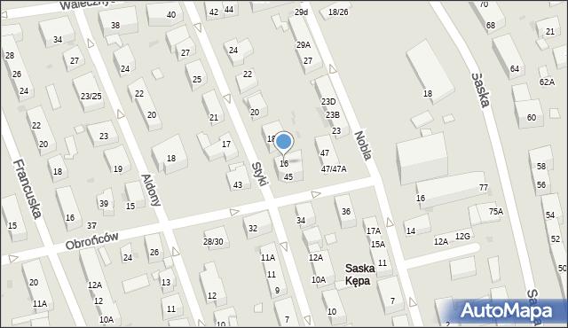 Warszawa, Styki Jana, 16, mapa Warszawy