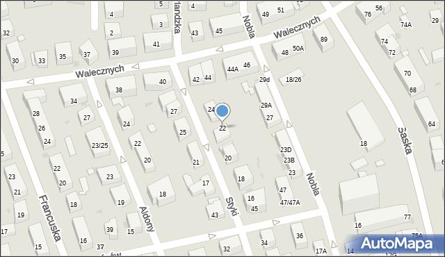 Warszawa, Styki Jana, 22, mapa Warszawy